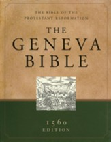 The Geneva Bible - Genuine Leather, Black