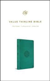 ESV Value Thinline Bible (TruTone, Turquoise, Emblem Design)