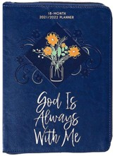 2022 God Is Always with Me 18-Month Planner with Zipper