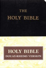 Douay-Rheims Bible, Genuine Leather, Black