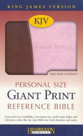 KJV Giant Print Personal Size Reference Bible  - Slightly Imperfect