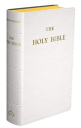 Douay-Rheims Pocket-Size Bible, Genuine Leather, White