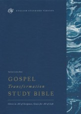 ESV Gospel Transformation Study Bible, Black Topgrain Genuine Leather