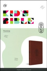 ESV Kid's Thinline Bible, TruTone Imitation Leather, Brown with The True Vine Design - Slightly Imperfect