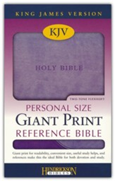 The KJV Personal-Size Giant-Print Reference Bible, Lilac/Violet Flexisoft - Slightly Imperfect