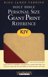 The KJV Personal-Size Giant-Print Reference Bible, Brick Red/Sand Flexisoft - Slightly Imperfect