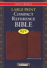 KJV Compact Large Print Reference Bible with Flap Flexisoft  Espresso