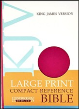 KJV Compact Large Print Reference Bible, Flexisoft Berry