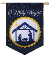 O Holy Night, Manger, Flag, Large