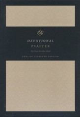 ESV Devotional Psalter--genuine  leather, black