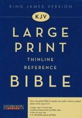 KJV Large Print Thinline Reference Bible Genuine Leather black