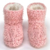 Slipper Booties, Pink, Large