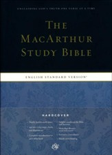 ESV MacArthur Study Bible--hardcover, indexed