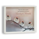 May the Chill of Winter Be Warmed Snowflake Box Plaque