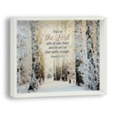 Trust in the Lord Snowflake Box Plaque