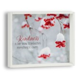 Kindness is Like Snow Snowflake Box Plaque