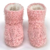 Slipper Booties, Pink, Small