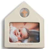 Pink Baby's Baptism Photo Frame