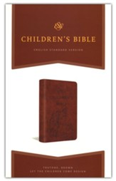 ESV Children's Bible--soft leather-look, brown with let the children come design