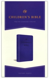 ESV Children's Bible--soft leather-look, purple