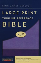 KJV Large Print Thinline Reference Bible Flexisoft Violet/Lilac - Imperfectly Imprinted Bibles