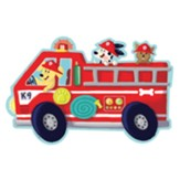 Fire Truck Pups Floor Puzzle, 39 Pieces