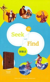 ESV Seek and Find Bible--soft leather-look, brown