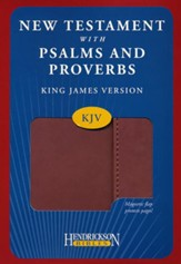 KJV New Testament with Psalms and Proverbs, imitation leather, expresso with flap