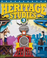 BJU Press Heritage Studies 3 Student  Text, Third Edition  (Copyright Update)