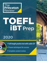 Princeton Review TOEFL iBT Prep with  CD, 2020