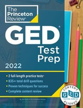 Princeton Review GED Test Prep,  2022: Practice Tests + Review & Techniques + Online Features