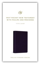 ESV Vest Pocket New Testament with Psalms and Proverbs, Soft imitation leather, lavender