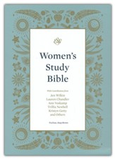 ESV Women's Study Bible--soft leather-look, deep brown