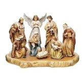 Joseph Studio Nativity Scene on Wood Base, 9 Pieces