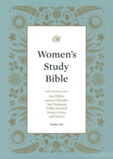 ESV Women's Study Bible--soft  leather-look, teal