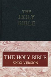 Knox Bible, Black Leatherbound Hardcover