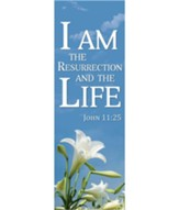I Am The Resurrection Banner (2' x 6')