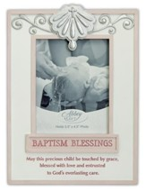 Baptism Blessings Photo Frame, Pink