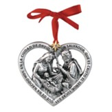 Holy Family in Heart, Spanish Ornament
