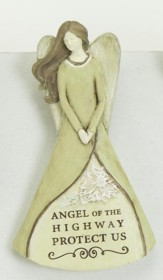 Angel of the Highway Protect Us Angel Visor Clip