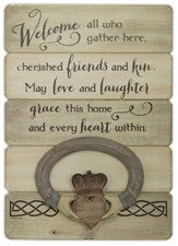 Irish Welcome, Claddagh, Plaque