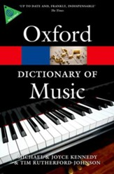 The Oxford Dictionary of Music, 6th Ed. - Slightly Imperfect