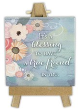 It's A Blessing to Have A True Friend in You Mini Plaque