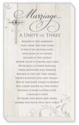 Marriage... A Unity of Three Plaque