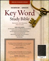 ESV-Hebrew-Greek Key Word Study Bible, bonded leather, black