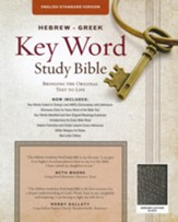 ESV Key Word Study Bible, Genuine Leather, Black