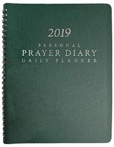 2019 Personal Prayer Diary (Green)