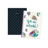 Shine, You Are Valuable Notebooks, Pack of 2