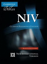 NIV Clarion Reference Bible, Goatskin, black  - Imperfectly Imprinted Bibles