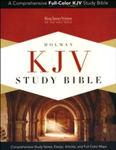 KJV Study Bible--soft leather-look, brown (indexed)
